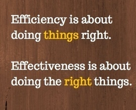 Effectiveness is about doing the right things